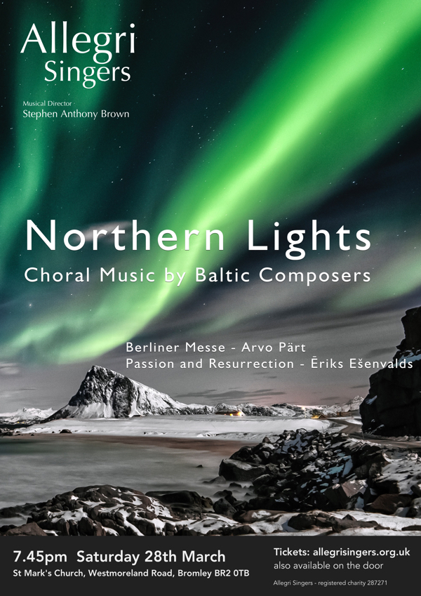 Zita Syme - 'Northern Lights' with the Allegri Singers