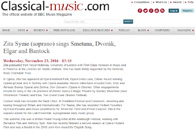 View the BBC Music Magazine article about Zita Syme (PDF format)